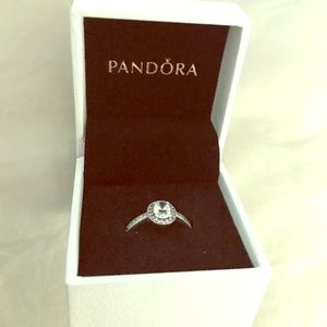 Authentic Pandora Ring (Oval Sparkle Halo Ring)